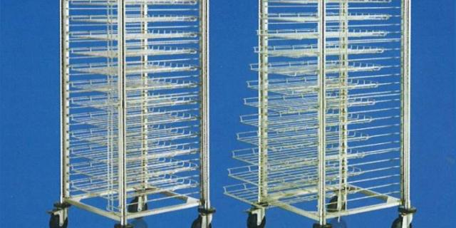 stainless steel sliding PCB cart